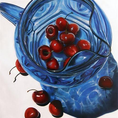 """Cherries II"" original fine art by Jelaine Faunce"