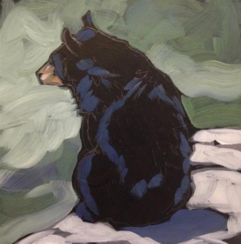 """Bearly Awake"" original fine art by Kat Corrigan"