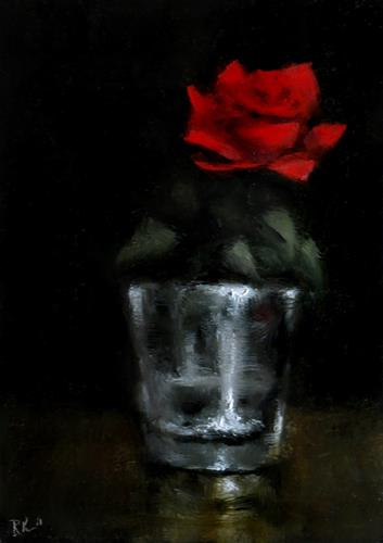 """A Single Rose"" original fine art by Bob Kimball"