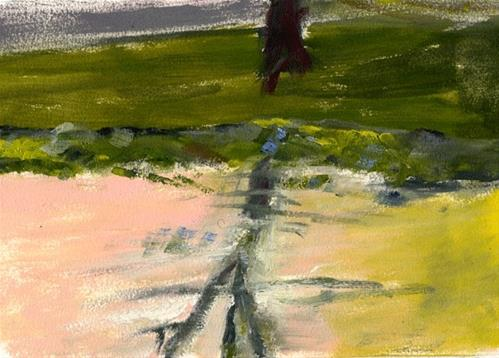 """""""Tree Reflection At Sunset"""" original fine art by Donna Crosby"""