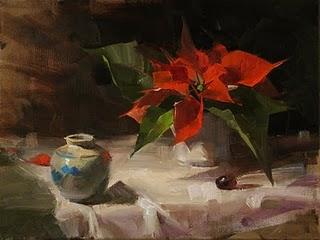 """Christmas Star"" original fine art by Qiang Huang"