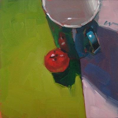 """Tomato Center --- SOLD"" original fine art by Carol Marine"