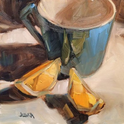 """Blue Morning"" original fine art by Elaine Juska Joseph"