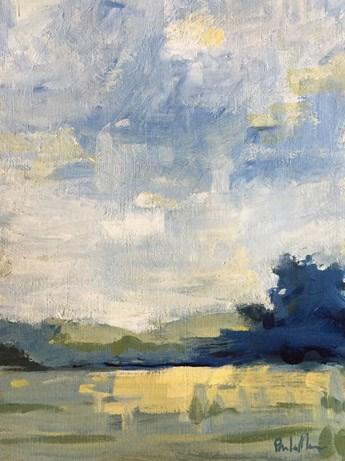 """""""Blue Fall"""" original fine art by Pamela Munger"""