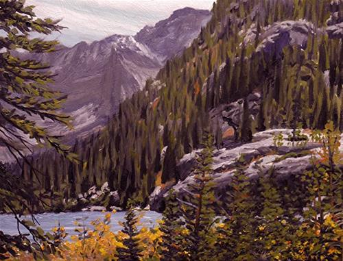 """Mountain Lake II Colorado"" original fine art by Daniel Fishback"