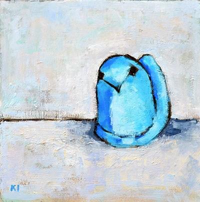 """Marshmallow Peep Painting"" original fine art by Kevin Inman"