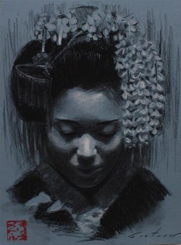 """""""Blue Maiko III"""" original fine art by Phil Couture"""