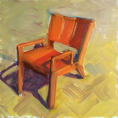 """Red Chair"" original fine art by Deborah Newman"