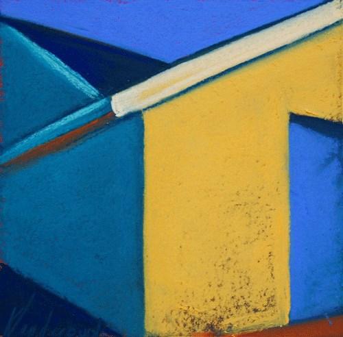 """""""The Yellow Wall"""" original fine art by Karen Vanderpool"""