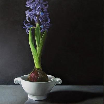 """Hyacinth 10x10"" original fine art by M Collier"