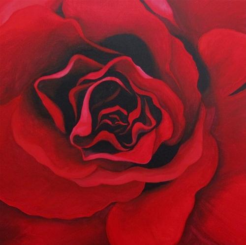 """Roses Are Red"" original fine art by ~ces~ Christine E. S. Code"