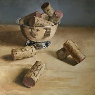 """Spilled Corks"" original fine art by Michael Naples"