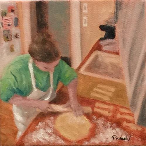 """""""Oscar Cookies"""" original fine art by Stephanie Drawdy"""