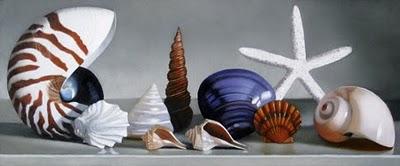"""Shells 5x12"" original fine art by M Collier"