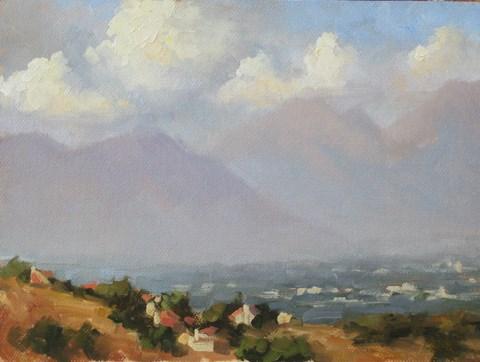 """""""Field Study Chino Hills 2"""" original fine art by Karen Werner"""