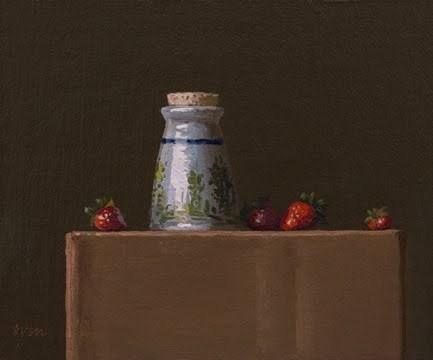 """Mom's Sugar Bowl with Strawberries"" original fine art by Abbey Ryan"