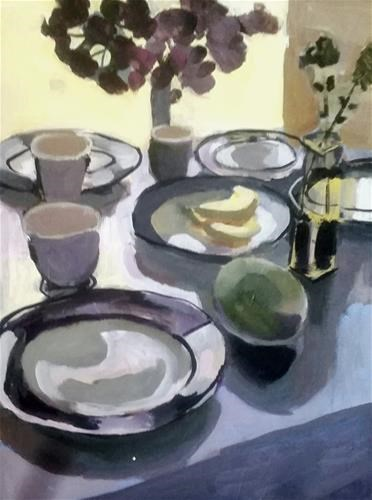 """Mango and Bananas "" original fine art by Liz Maynes"