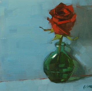 """Red Rose --- SOLD"" original fine art by Carol Marine"