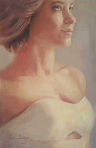 """That one dress!"" original fine art by Rentia Coetzee"