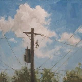 """""""Cloudy Connection"""" original fine art by Michael Naples"""