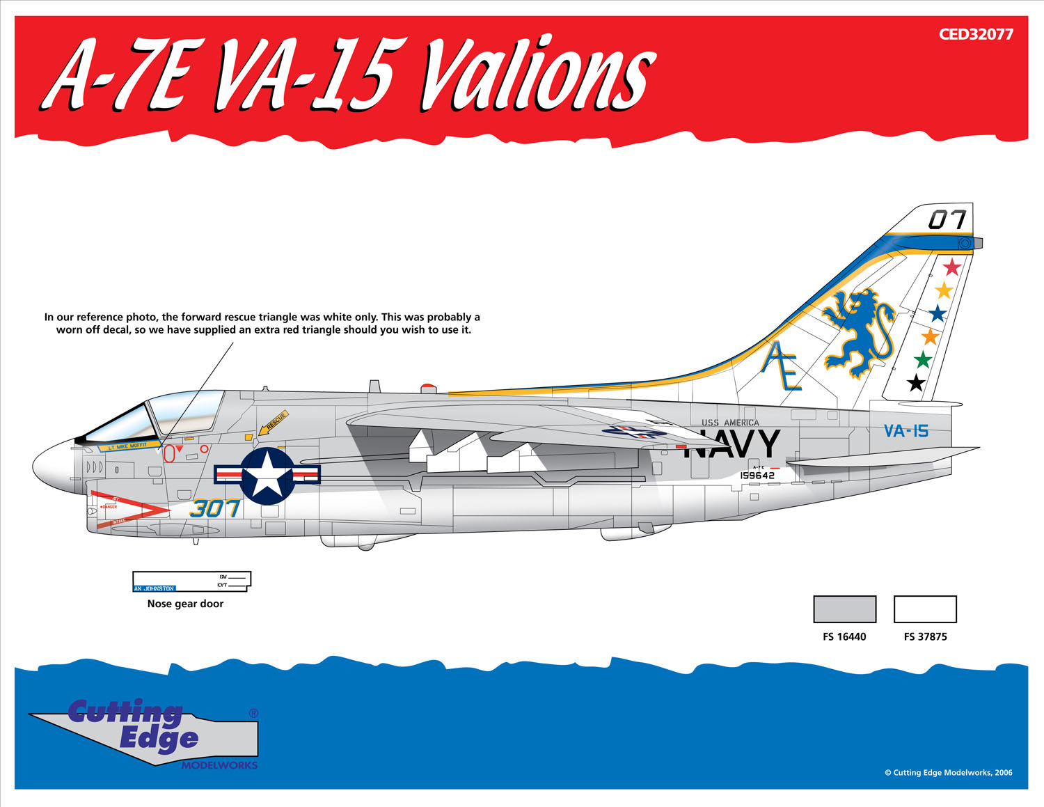 STICKER USN VA 154 Valion