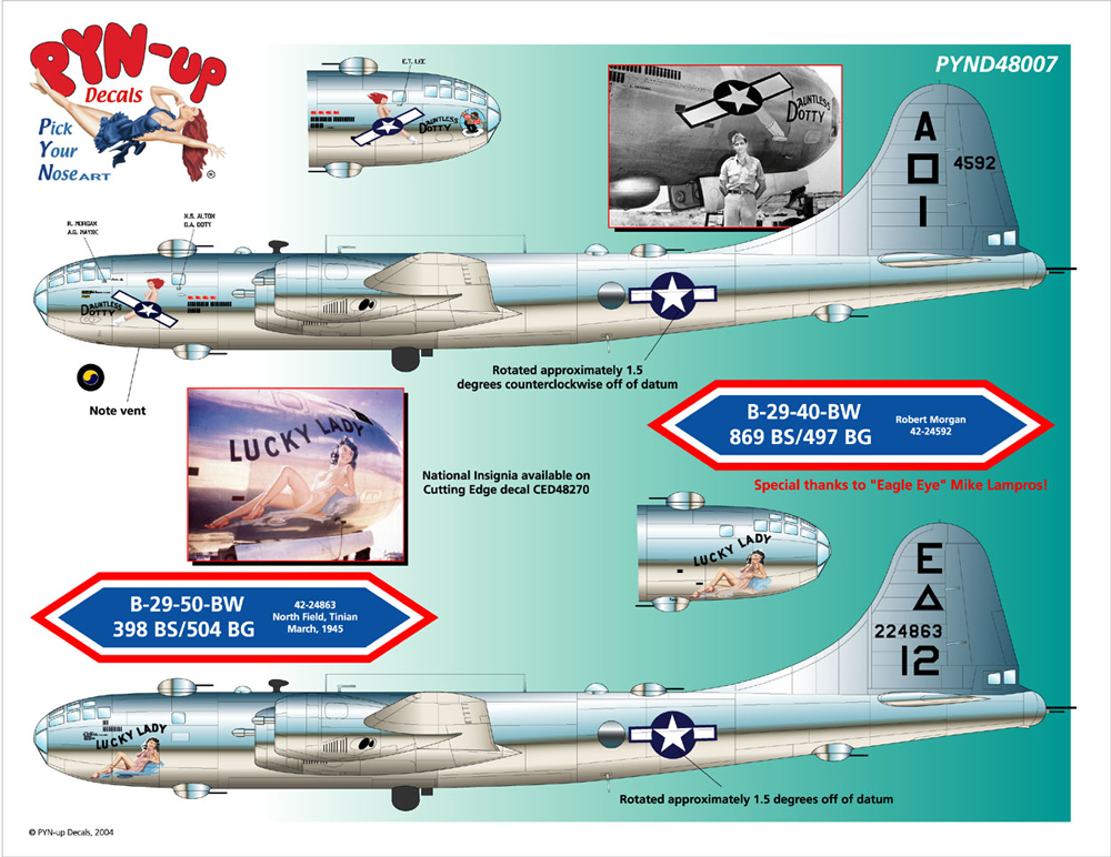 World's Best Model Airplane Decals | Cutting Edge Decals | PYN-up