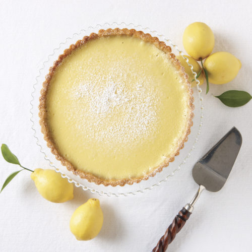 Lemon Tart with Walnut Crust