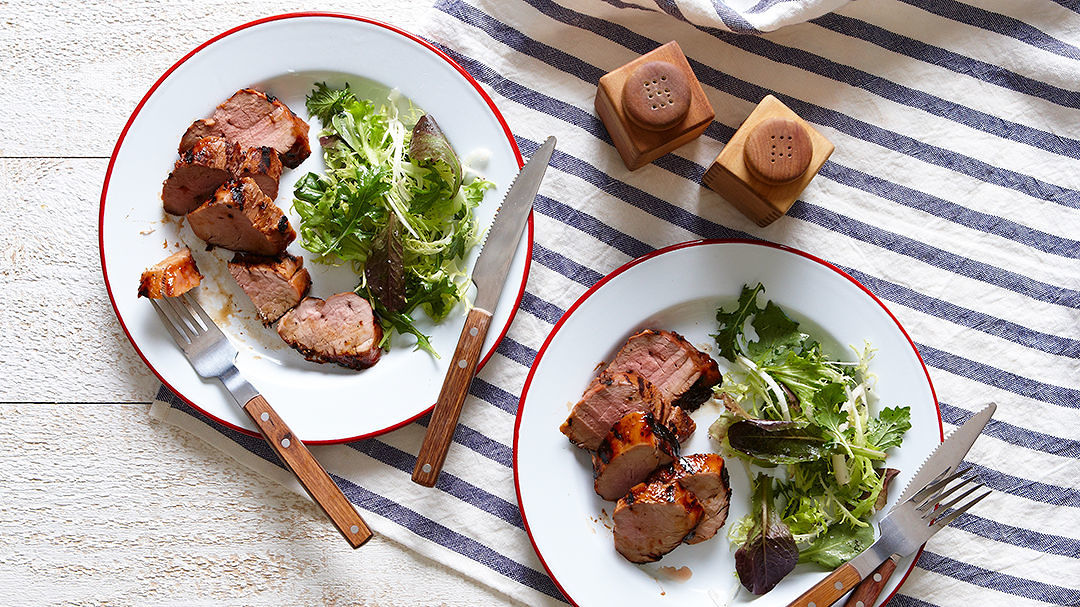 Grilled Asian Pork Tenderloin With Peanut Sauce Recipe Finecooking