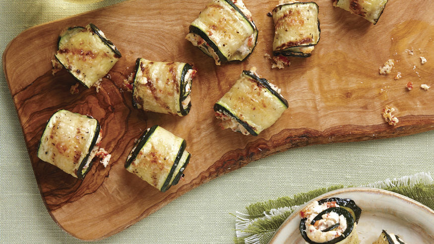 Grilled Zucchini & Goat Cheese Roll-Ups