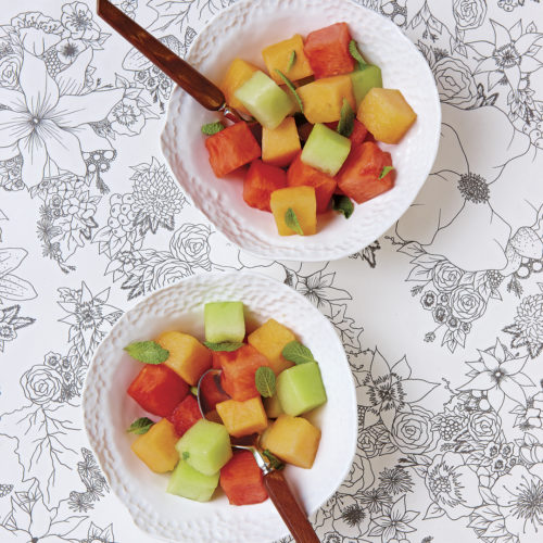 Melons-with-Ginger-Syrup