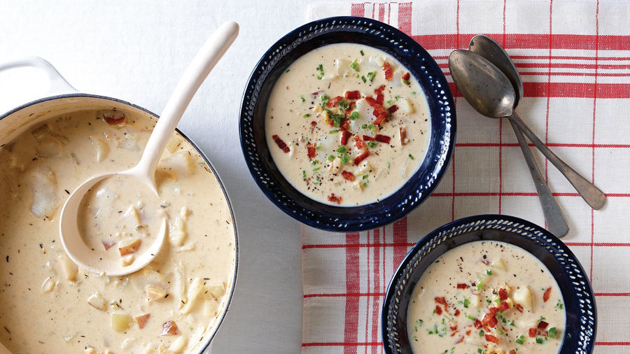 Creamy Seafood Chowder with Bacon, Thyme & Jalapeño