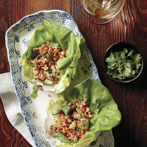 Ginger Sesame Chicken Lettuce Wraps Recipe Finecooking