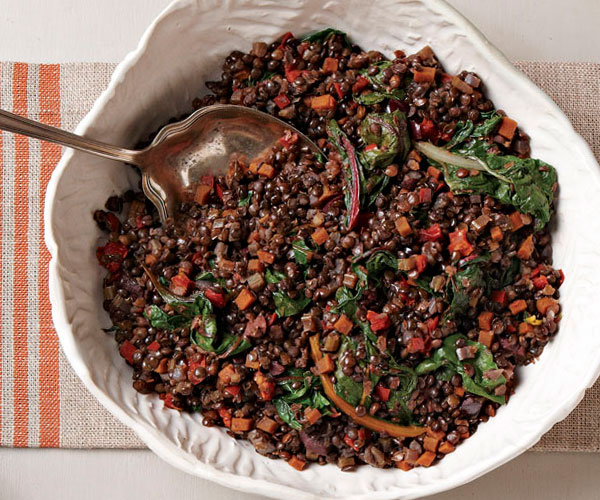 Beluga Lentils With Ruby Chard Recipe Finecooking