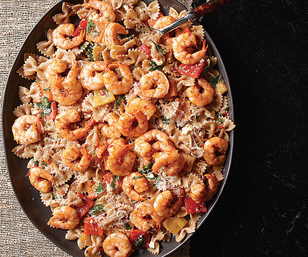 Rank 4 in Best Farafalle Shrimp pasta recipes with calories and ingredients list