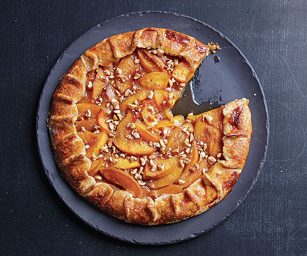 Cardamom-Peach Galette with Toasted Hazelnuts