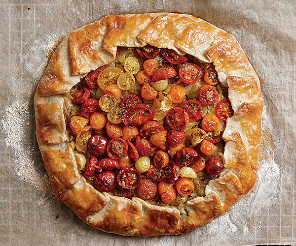 Tomato, Melted Leek, and Blue Cheese Galette