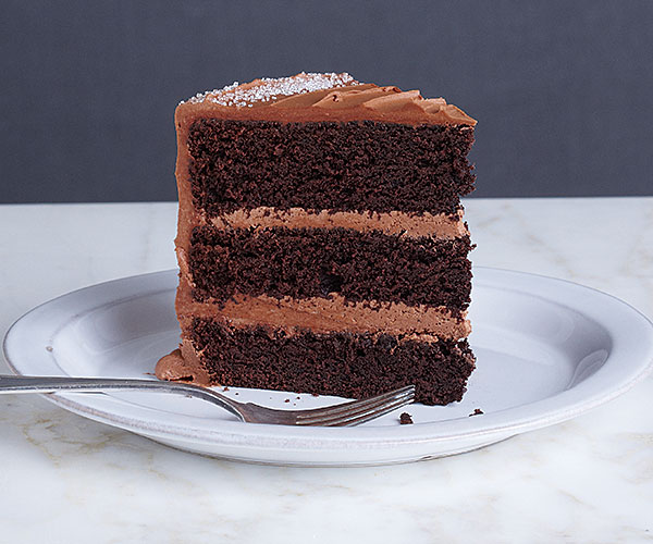 Chocolate Three-Layer Cake with Milk Chocolate Ganache Frosting