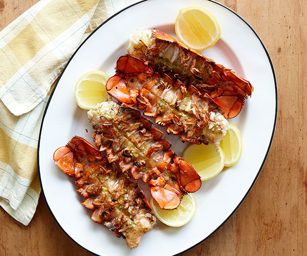 grilled lobster tails in shell