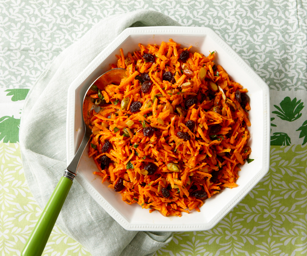 Grated Carrot and Raisin Salad