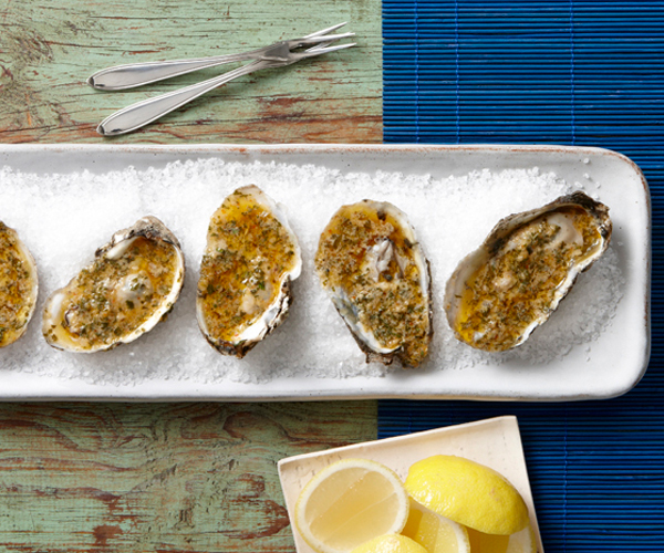 Grilled Oysters with Cajun Compound Butter
