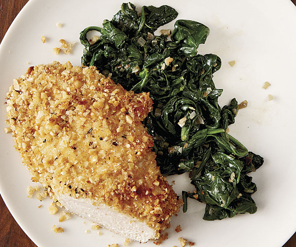 Oven Fried Chicken Cutlets With Hazelnuts Recipe Finecooking