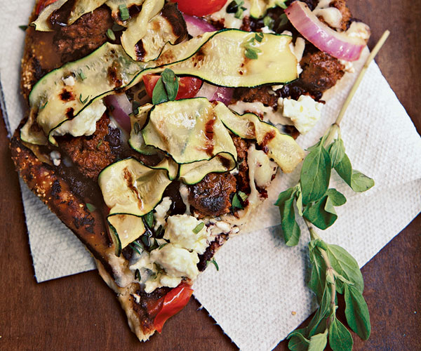 The Great Greek Grilled Pizza Recipe Finecooking