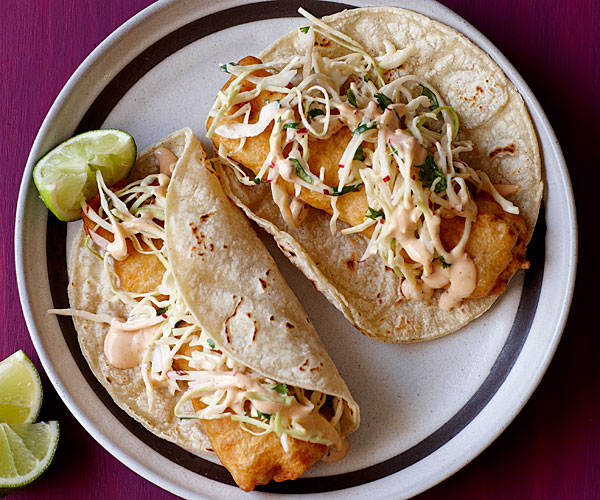 Baja fried fish tacos recipe finecooking for Fish taco ingredients