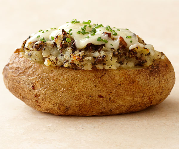 Twice Baked Potatoes With Mushrooms And Herbs Recipe Finecooking