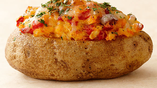 Twice Baked Potatoes With Mushrooms And Herbs Recipe