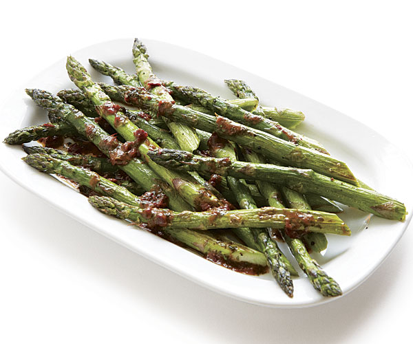 Roasted Asparagus with Chipotle-Lime Butter