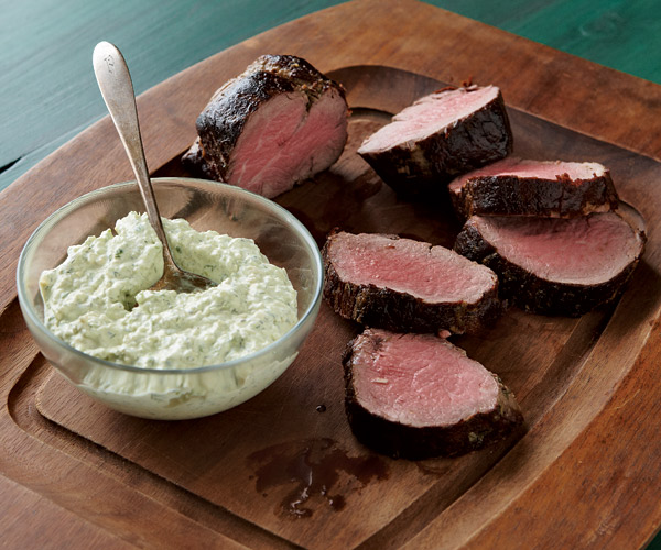 Beef Tenderloin With Cool Horseradish Dill Sauce Recipe Finecooking