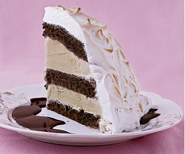 Baked Alaska With Chocolate Rum Sauce Recipe Finecooking