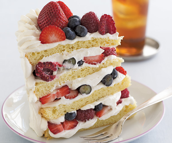 Fresh 3-Berry Shortcake