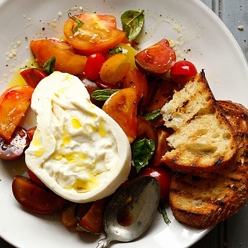 Burrata With Heirloom Tomatoes Recipe Finecooking